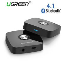 Ugreen 4.1 Wireless Bluetooth Receiver 3.5MM Aux receiver Audio Stereo Music Receiver Bluetooth Audio Adapter Car Aux Receiver(China)