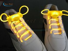 Free Shipping 2pcs/1pairs LED Shoelaces Flash Light Up Glow Stick Strap Flat Shoelaces Disco Party for Shoe Accessories