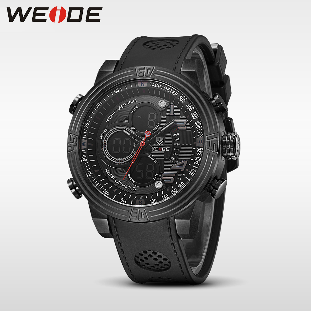 WEIDE 2017 New Men Quartz Casual Watch Army Military Sports Watch Waterproof Back Light Alarm Men Watches alarm Clock berloques<br>