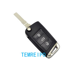 High-quality Folding remote control for vw golf remote contol key shell 3 button key case fobhead(China)