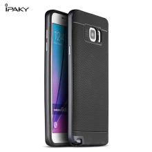 Original iPaky Brand For Samsung Galaxy Note 5 Case Note5 Luxury Fashion Armor Rubber Silicone Soft Back Cover with Frame