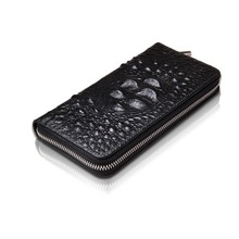 Fashion Alligator Pattern Split Leather Women Wallet Vintage Wallets Ladies' Long Crocodile Clutches With Coin Purse Card Ho(China)