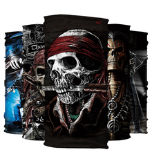 Death Knight Pirate Scarf Magic Headband Skull Skeleton Ghost Motorcycle Headwear Headband Neck Bandana Face Mask