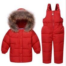 Baby Boys Girls Outerwear Coat Winter Jacket Toddler Sets Children Clothing Sets Kids Hooded Long Sleeve Jacket Coat Suits