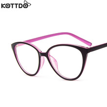 KOTTDO Fashion Women Cat Eye Eyeglasses Frame Men Optical Glasse Frame Retro Eyeglasses Computer Glasses Glasses transparent