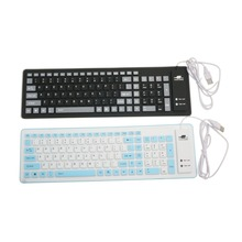 103 Key Compact Mini USB Soft Silicone Waterproof Keyboard(China)
