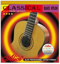 Black Nylon Classical Guitar Strings Black Nylon H85 Coated Bronze Copper Alloy Wound Alice A107BK