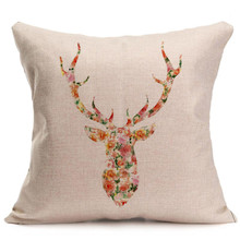 Christmas Cushion Cover Decorative Xmas Christmas Elk Sofa Bed Home Decoration Festival Pillow Case Cushion Cover Drop Ship EY11(China)