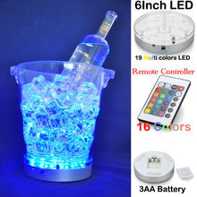 20pcs*6inch Multi-Color LED Light Base for Vases, Battery Operated 6 Inch Diameter Centerpiece Light Plate under table led light