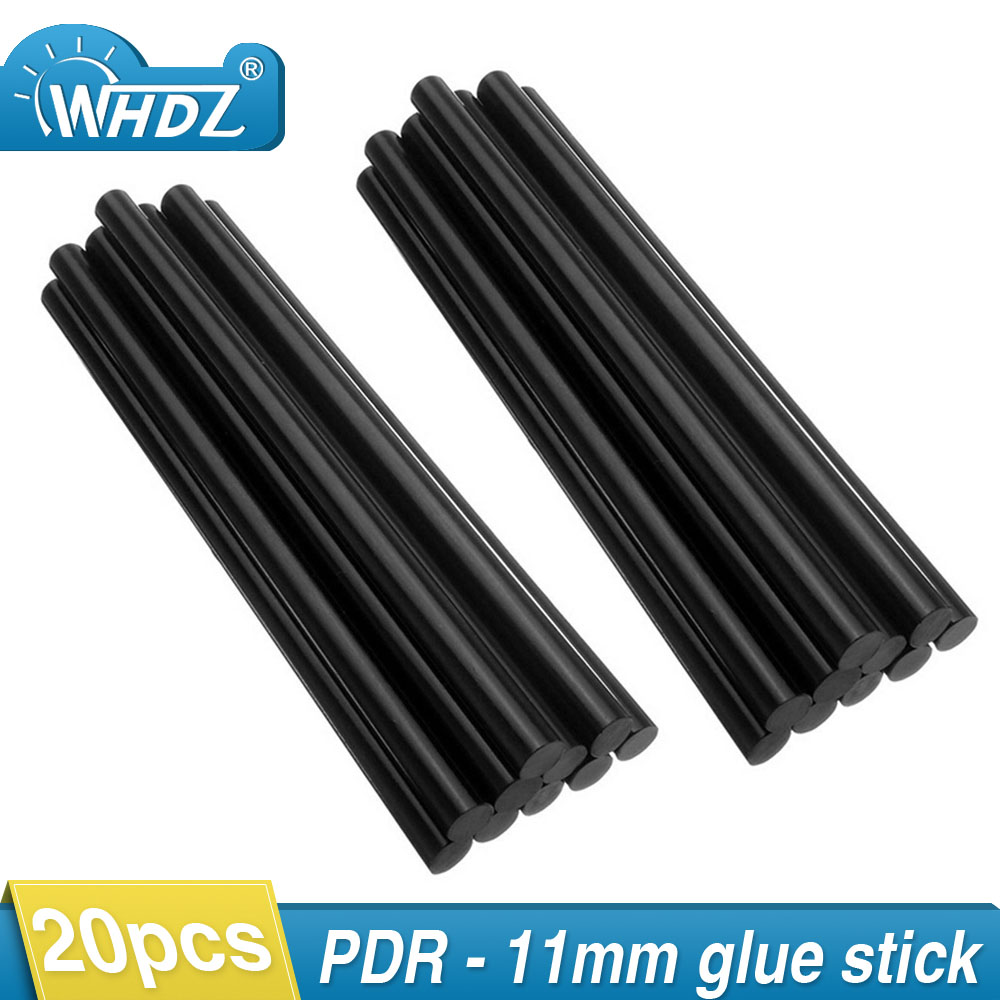 WHDZ 20pcs PDR hot melt Glue Sticks Strong silicon Glue Glue Pulling Paintless Dent Repair tools 11mm glue gun stick