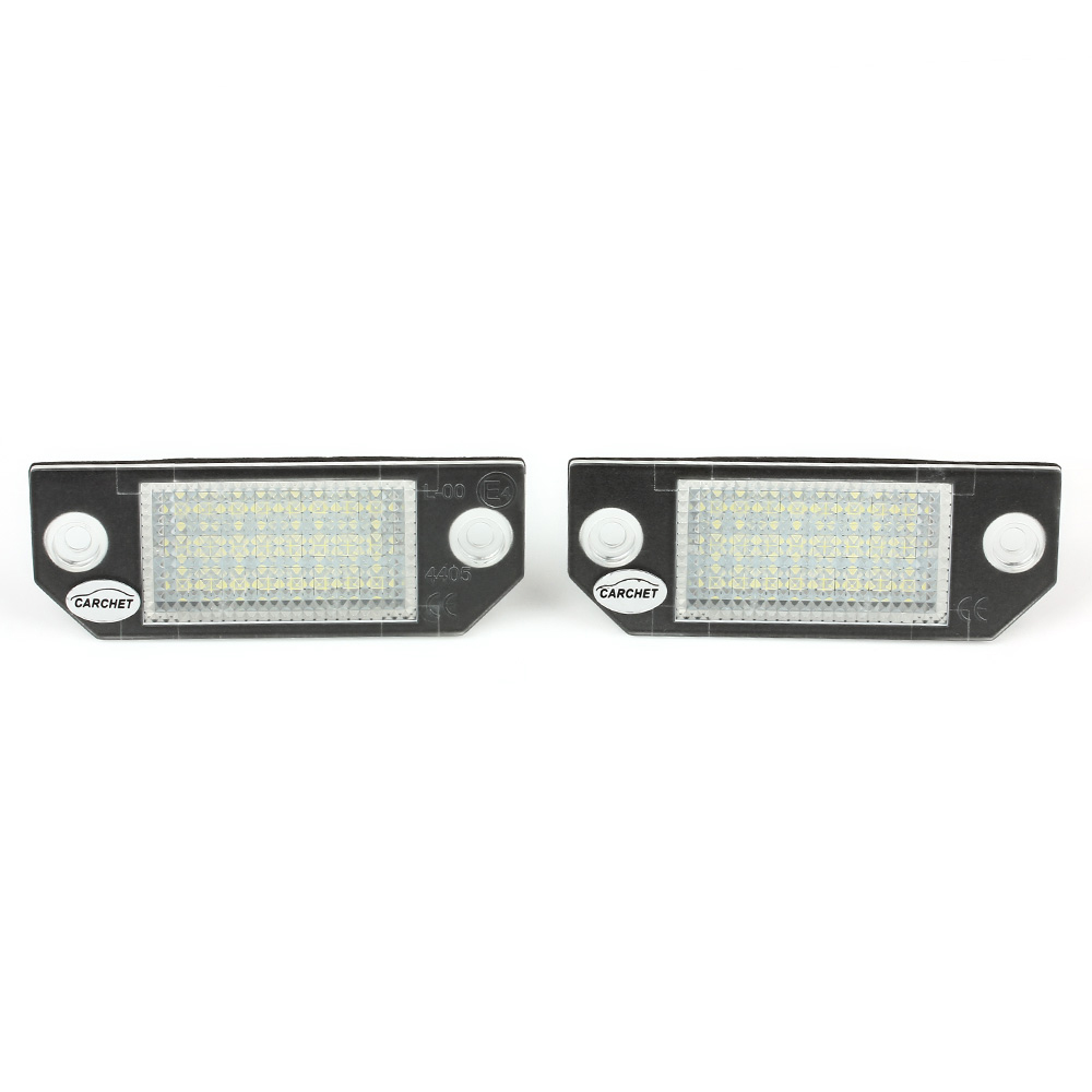 CARCHET 2X 24 LED License Plate Lights Lamps Bulbs White Color Car LED Lights for Ford Focus 2004-2010 for Ford C-Max 2003-2010<br><br>Aliexpress