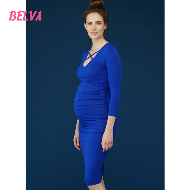 Belva 2017 Sheath pregnant party dress maternity dress for pregnancy pregnant dresses bandage Fashion women dress DR041<br><br>Aliexpress