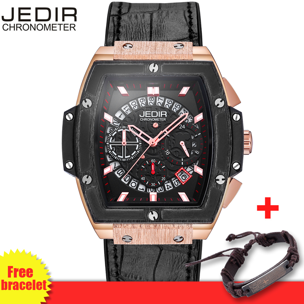 relogio JEDIR Hollow 3D Multi-Functional Mens Watch Pirate Series Chronograph Fashion Brand Men Watches Male Priority Shipping<br>