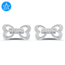 Hot Selling Jewelry Bijoux Zircon Heart Charms Clasp For Bracelet Jewelry Making Diy Copper Micro Pave Czech Charms Wholesale(China)