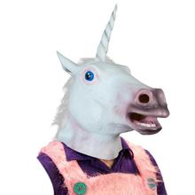 New Halloween Suppliers Accoutrements Magical Unicorn Mask Latex Animal Costume Prop Toys Party Halloween Dropshipping Hot Sale