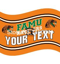 Florida A&M Rattlers YOUR TEXT Flag 3ft x 5ft Polyester NCAA Banner Flying Size No.4 144* 96cm QingQing Flag(China)