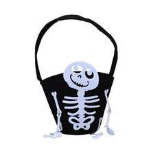 Hot Sale Skull Bag Kids Candy Bag Handbag Halloween Party Holiday(China)