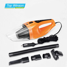 120W Portable Car Vacuum Cleaner Wet And Dry Dual Use Auto Cigarette Lighter Hepa Filter DC12V Orange(China)
