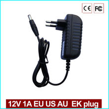 JOY DC 12 V 1A EU Plug Power adapter charger AC 100-240 V DC power supply for CCTV camera (2.1mm * 5.5mm)