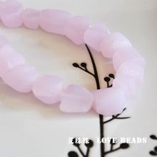 natural pink recycled glass nuggets loose beads loose bead bracelet necklace earrings making jewelry craft findings(China)