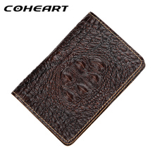 COHEART Crocodile Pattern Passport Cover Wallet Genuine Leather Global universal Passport Unisex Real Leather Fashion Style !(China)