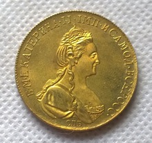 1782 russia 10 Roubles gold Coin copy  FREE SHIPPING