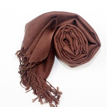 [LESIDA]Real 100% Wool Women Scarf And Shawls,180*70CM Long Size Pashmina,Echarpe,Warm Brown Scarfs For Autumn Winter 3908