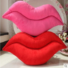 U-miss Creative Textile Autumn Winter Wedding Red Lip Anti Snore Sleeping Pillow Charm Kitchen Beautiful Favor