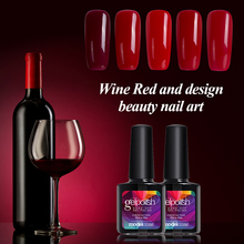 Modelones 1Pcs 10ml Wine Red Series Set For Nail Gel Polish Soak Off Gel Polish With UV Lamp Nail Gel Varnish