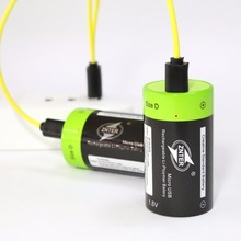 ZNTER 1pcs/2pcs 1.5V 6000mAh USB Rechargeable D Battery Recycle Multifunctional Charged Lithium Polymer Play And Plug