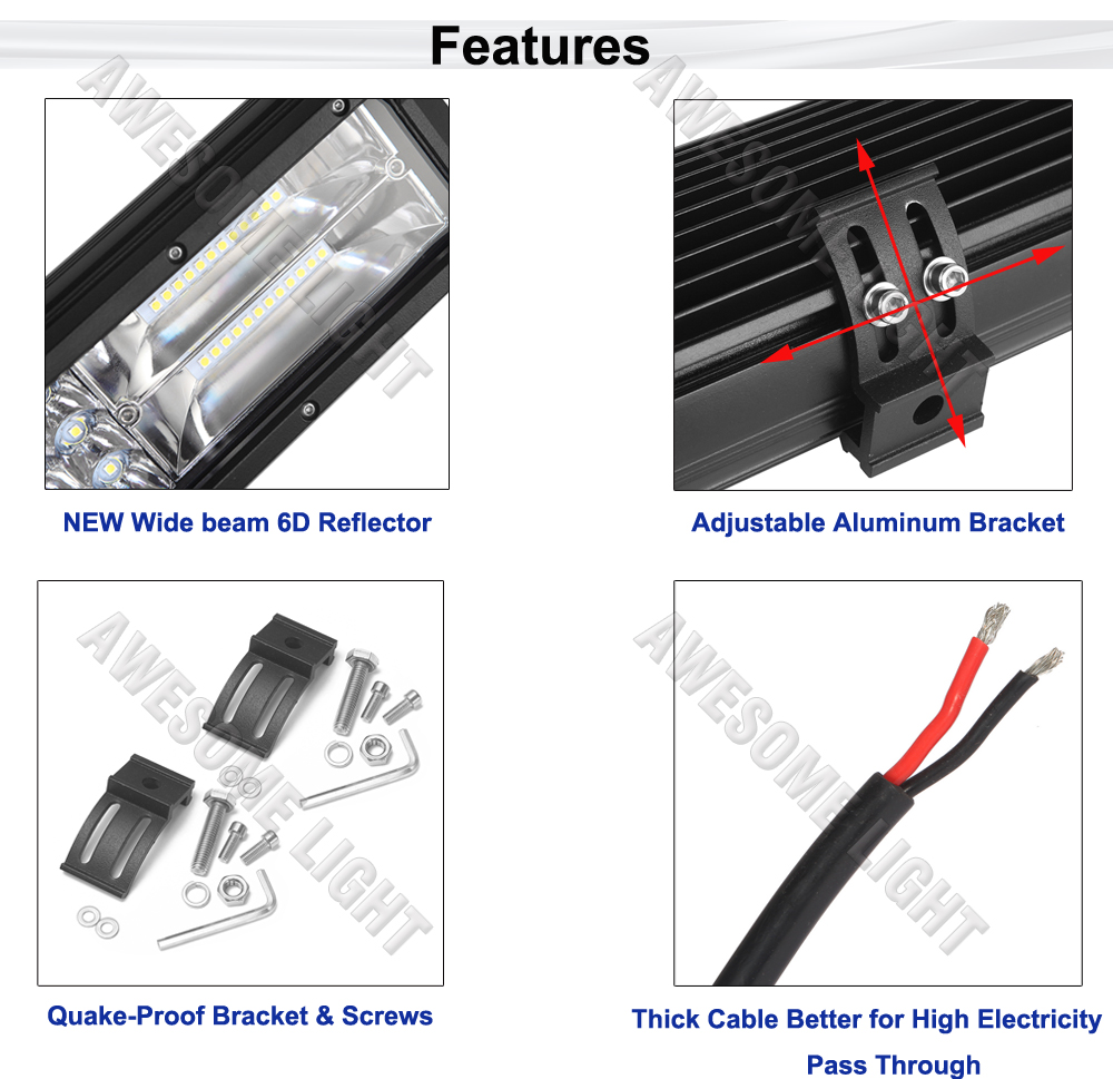 288W LED work light bar (2)