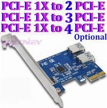 PCI-E 1x 1 to 3 2 4 PCI express 1X slots Riser Card Mini ITX to external 2 PCI-E slot adapter PCIe Port Multiplier Card VER001