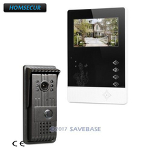 "HOMSECUR 1*4.3"" Indoor Unit + 1*CMOS Outdoor Unit Kit Video Door Phone Intercom System With IR Night Vision for Home Security(China)"