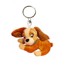 Lady and the Tramp Lady Dog Brown Puppy Plush Pendant Cute Stuffed Animals Small Keychains Key Chain(China)