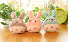 Super Kawaii 3Colors For Choice - 6CM TOTORO Pendant Plush Stuffed DOLL TOY ; Decor Wedding Bouquet TOY Gift DOLL