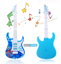 Children's four string guitar electric toys Can play an instrument baby multi-function simulation with music educational toys