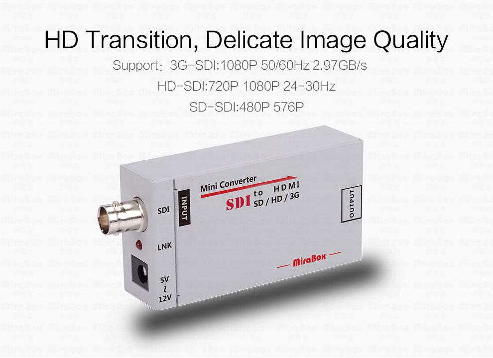 1080P Mini 3G SDI To HDMI Converter With Audio For HD Camera SDI To HDMI Video Converter Mini Box Support SDI3GHD SDI Signal (4)