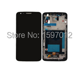 For Lg Optimus G2 D800 Lcd Display+Touch Glass Digitizer+frame Assembly Black/white color replacement screen free shipping<br><br>Aliexpress