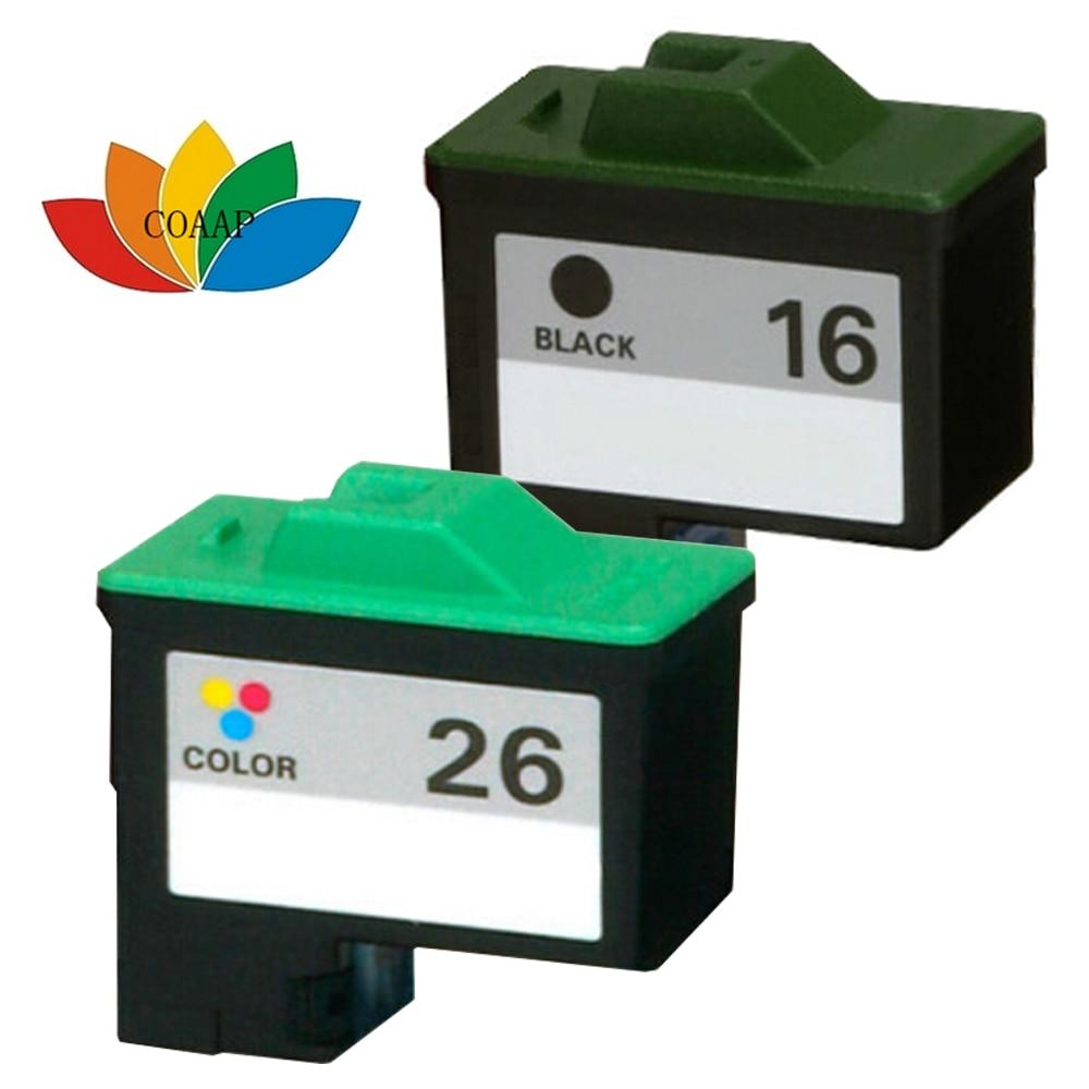 2pack Compatible Lexmark INK CARTRIDGES 16 26 17 27 Combo Black Color 10N0016 10N0026<br><br>Aliexpress