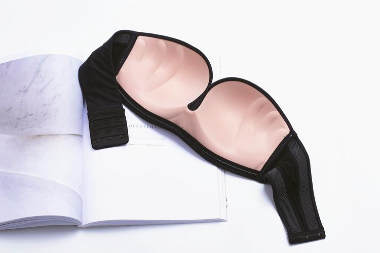 17 New Sexy Lace Invisible Bra Finger Shape Design Push Up Anti-slip Strapless Bras For Women Bralette Seamless Elastic Bra 5