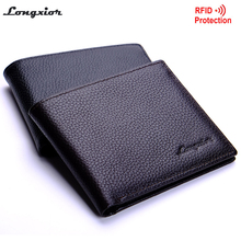 MRF15 NEW  new stylish RFID BLOCKING Men wallet+ genuine cow Leather + Bifold Purse with coin pocket+ RFID protection