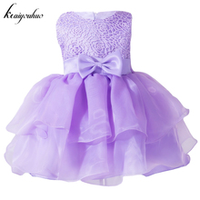 keaiyouhuo 2017 Summer Girls Wedding Dress Baby Girls Dress Baby Costumes Clothes Kids Girl Christening Dress Infant Party Dress(China)