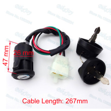 4 wire Ignition Key Switch For 50cc 70cc 90cc 110cc 125cc Quad ATV Go Kart TAOTAO Motorcycle Motocross Parts