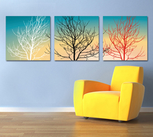 3 piece canvas art  Modern tree branch fashion home Decor for sale NO frame and directly from factory wholesale is welcomed