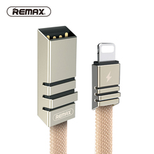 REMAX Braided Matel Data Cable 8pin for Iphone 5 Fast Charging Sync USB Cable Zinc Transfer Cable 2.1A Cable for Iphone6/7 Plus(China)