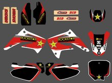 GRAPHICS&BACKGROUND DECAL STICKER Kit for Honda CR85R CR85 2 STROKES 2003 04 05 06 07 08 09 10 11 2012 CR 85 85R(China)