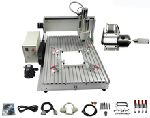 CNC 6040 Z-VFD 1.5KW  4 axis water cooling spindle wood drilling router pcb engraving machine