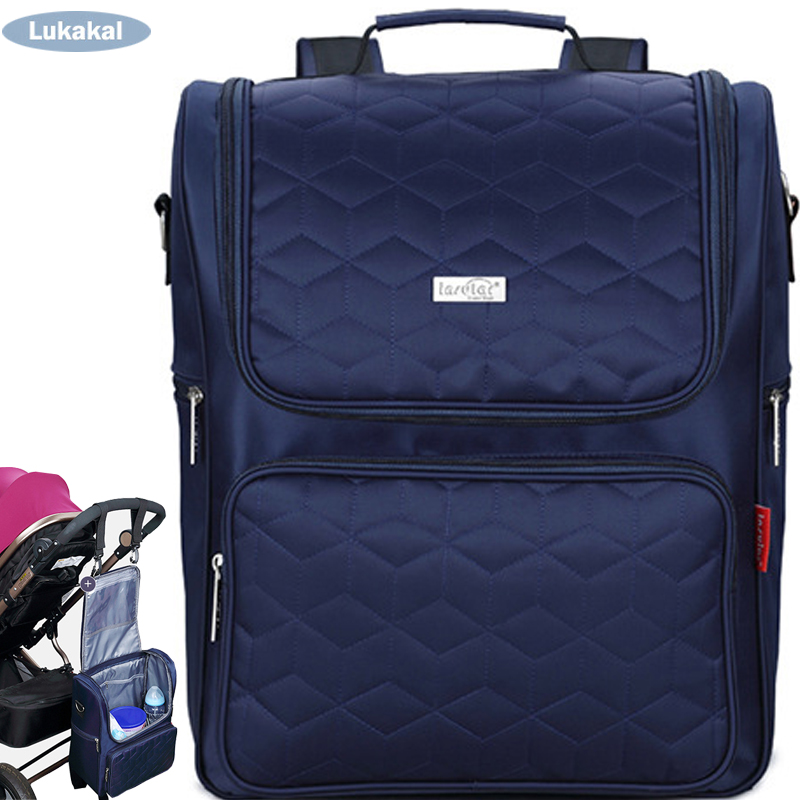 New Fashion Plaid Baby Dipaer Bag BackPack Socialite Aristocracy Style Mommy Maternity Luiertas WaterProof Stroller Nappy Bag <br>