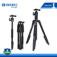 BENRO IT15 Tripod Portable Aluminium Tripods Reflexed Removerble Traveling Monopod Carrying Bag Max Loading 4kg Free Shipping