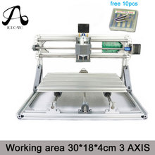 Free Shipping ICROATO Wood Router Engraver 3Axis PCB PVC Milling machine CNC 3018 GRBL control Diy CNC machine